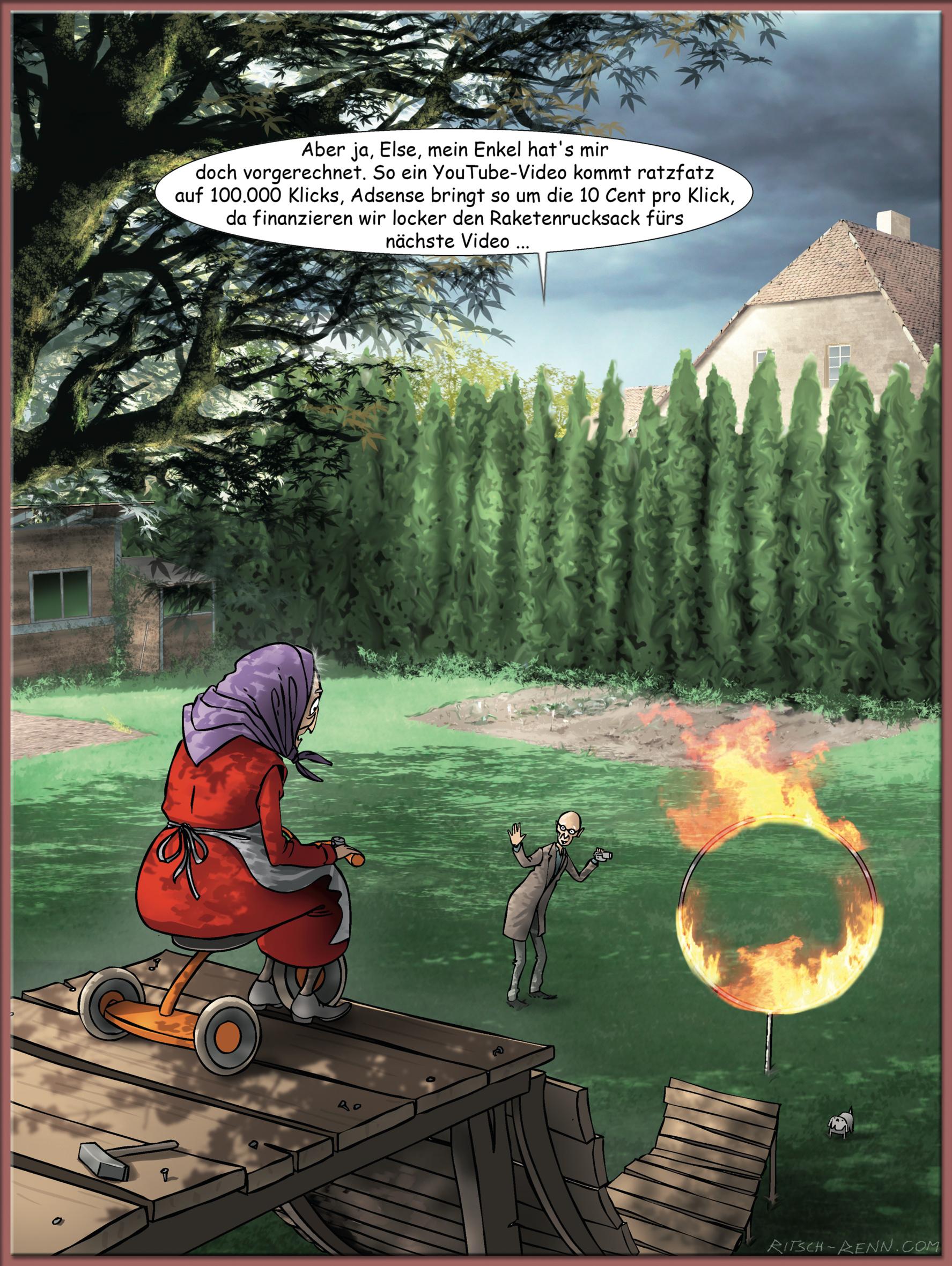 der Betrachter - Cartoon - Satire